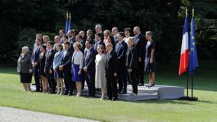 Le gouvernement français, le 22 juin 2017 à Paris.