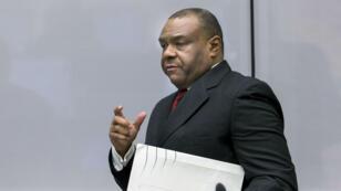 L'ancien vice-président congolais Jean-Pierre Bemba devant la CPI, à La Haye, le 21 mars 2016.
