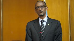 Le président Paul Kagame, lors d'un entretien accordé à France 24, le 5 avril 2014.
