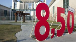 Un salaire minimum national horaire de 8,50 euros bruts entre en vigueur à partir du 1er janvier en Allemagne.
