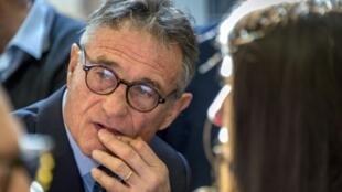 L'ancien sélectionneur du XV de France Guy Novès lors de son audience au Conseil des Prud'hommes de Toulouse, le 14 février 2019
