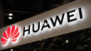شعار شركة هواوي الصينية العملاقة للاتصالات خلال معرض اكسبو للالكترونيات في بكين في 2 آب/اغسطس 2019.