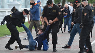 Belarus police said they have detained more than 250 people across the country after protests over the banning of several opposition candidates from the presidential election