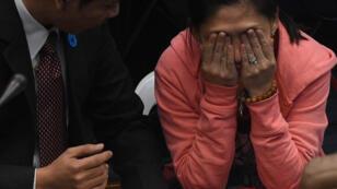 Maia Santos Deguito, responsable d'une branche locale d'une banque des Philippines, se défend d'avoir joué un rôle dans ce braquage.