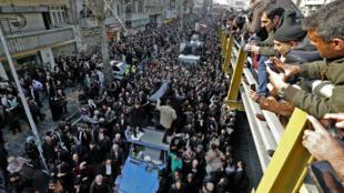 Plusieurs millions d'Iraniens ont assisté aux funérailles de Akbar Hashemi Rafsandjani à Téhéran, le 10 janvier 2017.