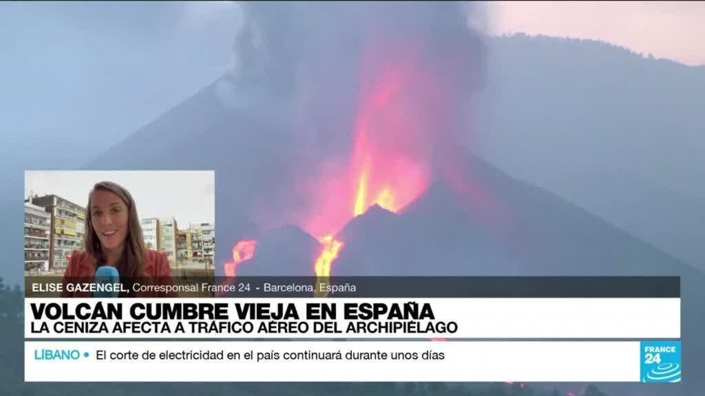 2021-10-09 16:36 Informe desde Barcelona: derrumbe en la cara norte de Cumbre Vieja causa nuevas coladas de magma