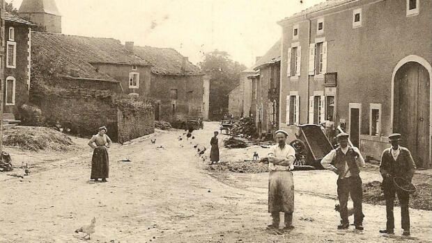 La ville de Baslieux en Meurthe-et-Moselle vers 1907