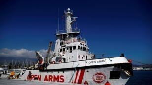 """صورة أرشيفية لسفينة """"أوبن آرمز"""""""