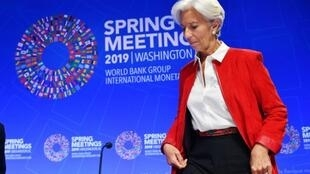 La directrice générale sortante du FMI Christine Lagarde le 11 avril 2019