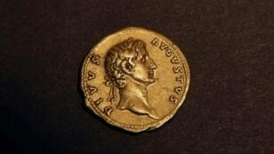 Hundreds of ancient Roman gold coins, similar to the one pictured in March 2016, were found in a kind of stone urn in the Cressoni theatre basement in Como