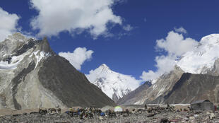 K2, in the distance, is considered a far tougher climb than Everest