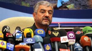 Mohammad Ali Jafari, chef des Gardiens de la révolution, lors d'une conférence de presse à Téhéran, le 16 septembre 2012.