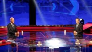 مرشحا الدورة الثانية من الانتخابات الرئاسية التونسية نبيل القروي وقيس سعيّد.