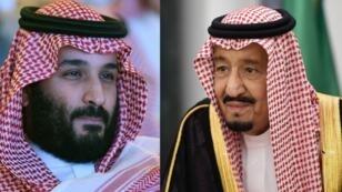 الملك السعودي سلمان بن عبد العزيز ونجله وولي عهده محمد بن سلمان