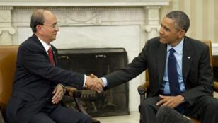 Thein Sein et Barack Obama le 20 mai 2013 à la Maison Blanche