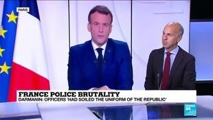 2020-11-27 13:03 France police brutality: Macron 'very shocked' by video of black man beaten up