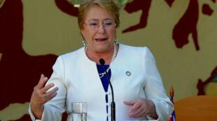 Michelle Bachelet le 8 janvier 2018 à La Havane.