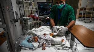 Newborn baby, Bibi Amena, was shot in her right leg during attack