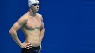 Le Français Maxime Grousset lors des demi finales de 50 m nage libre aux Mondiaux de Gwangju le 26 juillet 2019