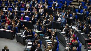 Les députés allemands lors du vote sur la résolution concernant le génocide arménien, le 2 juin 2016.