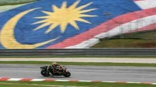 Le Malaisien Hafizh Syahrin lors d'une séance d'essais sur le circuit de Sepang, dont les 8 Heures ont été ajoutées au calendrier provisoire du championnat 2019/2020 d'endurance moto