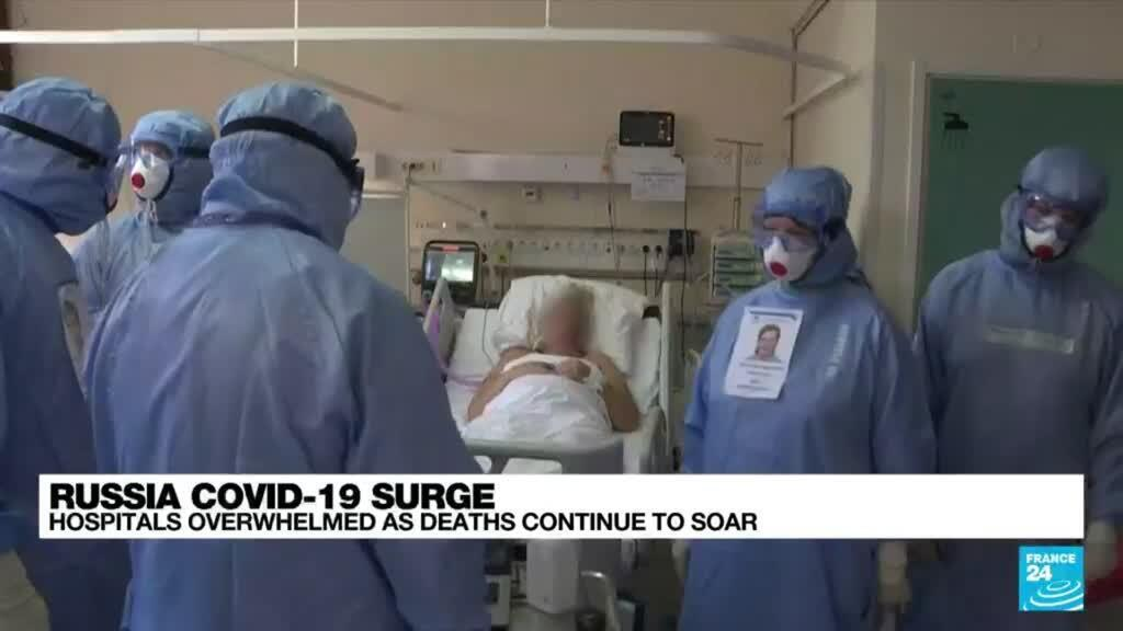 2021-10-21 08:09 Pleas and regrets in Russian overwhelmed hospitals as Covid-19 rages
