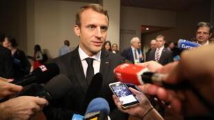 Le président français Emmanuel Macron à l'ONU, le 20 septembre 2017.