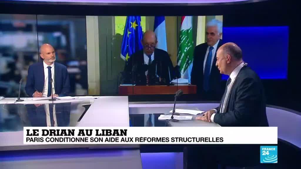 2020-07-24 08:05 Le Drian au Liban: Paris conditionne son aide aux réformes structurelles