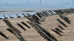 Anti-landing spikes on Taiwan's Kinmen islands, which lie just two miles from the mainland China coast