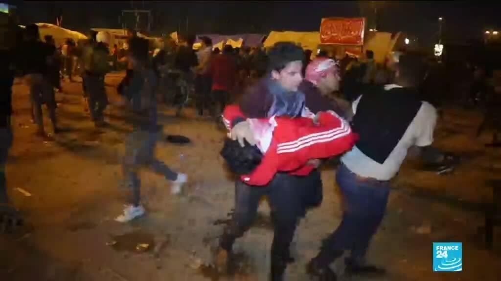 2020-02-06 11:11 Contestation en Irak : Heurts et violences entre manifestants sadristes et anti-pouvoir