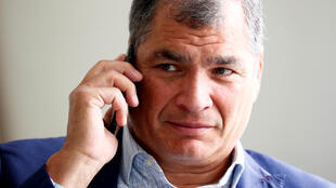 Ecuador's former president Rafael Correa is pictured ahead of an interview with Reuters in Brussels, Belgium, October 8, 2019.