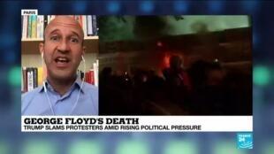 2020-06-01 14:10 'Tump is inflaming his rhetoric on George Floyd's death', FRANCE 24's Douglas Herbert says