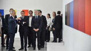 Emmanuel Macron au Centre Pompidou West Bund Museum à Shanghai, le 5 novembre.