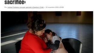 Las lesiones cutáneas de una niña intoxicada por las emanciones de gas en Quintero.