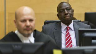 Le vice-président kényan, William Ruto, devant la CPI à La Haye, le 10 septembre 2013.