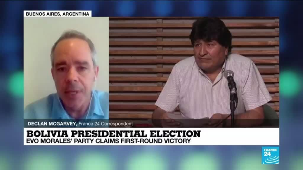 2020-10-19 17:11 Morales aide claims victory in Bolivia's presidential vote