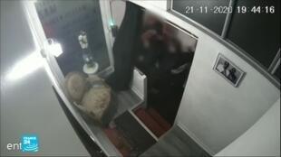 صورة من الفيديو للقطة بثت على فرانس24