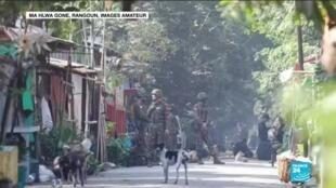 2021-03-10 13:14 Coup d'État en Birmanie : Raid de la junte militaire contre des cheminots grévistes