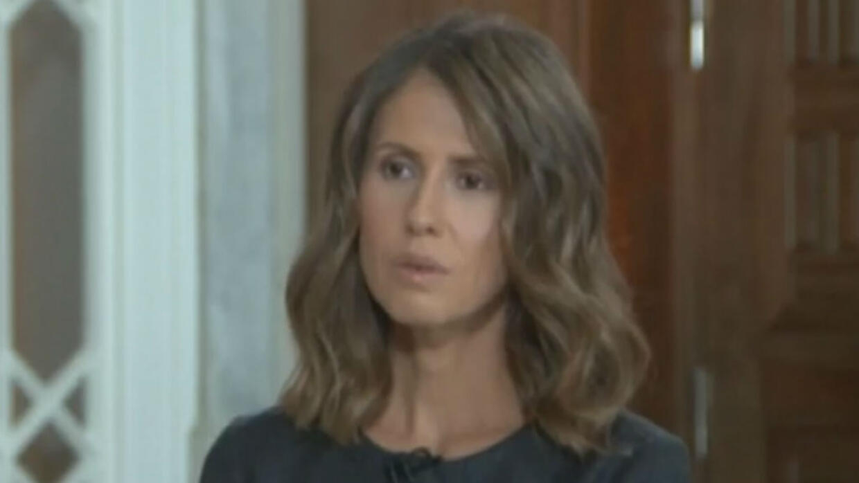 Syria's first lady, Asma al-Assad, says she rejected offers of asylum