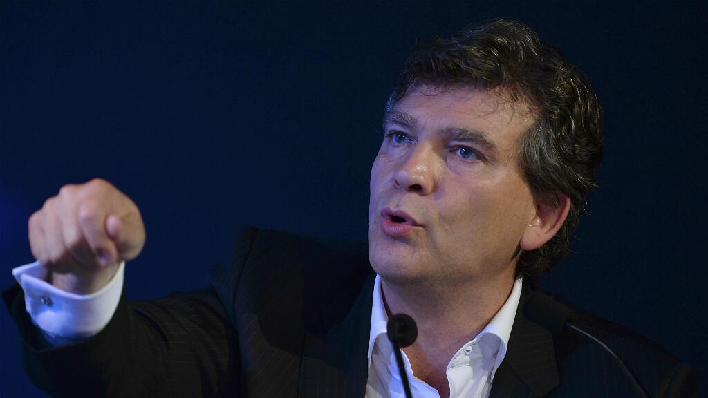 Arnaud Montebourg, le 23 juin 2016, lors d'un débat sur l'économie organisé à Paris par l'Institut Montaigne et le McKinsey Global Institute.