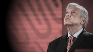 El presidente de México, Andrés Manuel López Obrador, habla durante su habitual rueda de prensa matutina, el 29 de mayo, en el Palacio Nacional, en Ciudad de México, México.