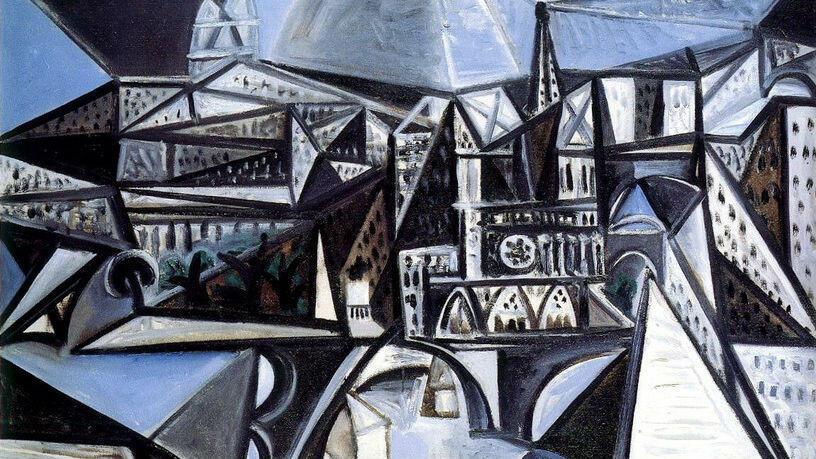 'Vue de Notre-Dame de Paris', cuadro pintado por Pablo Picasso en 1945.