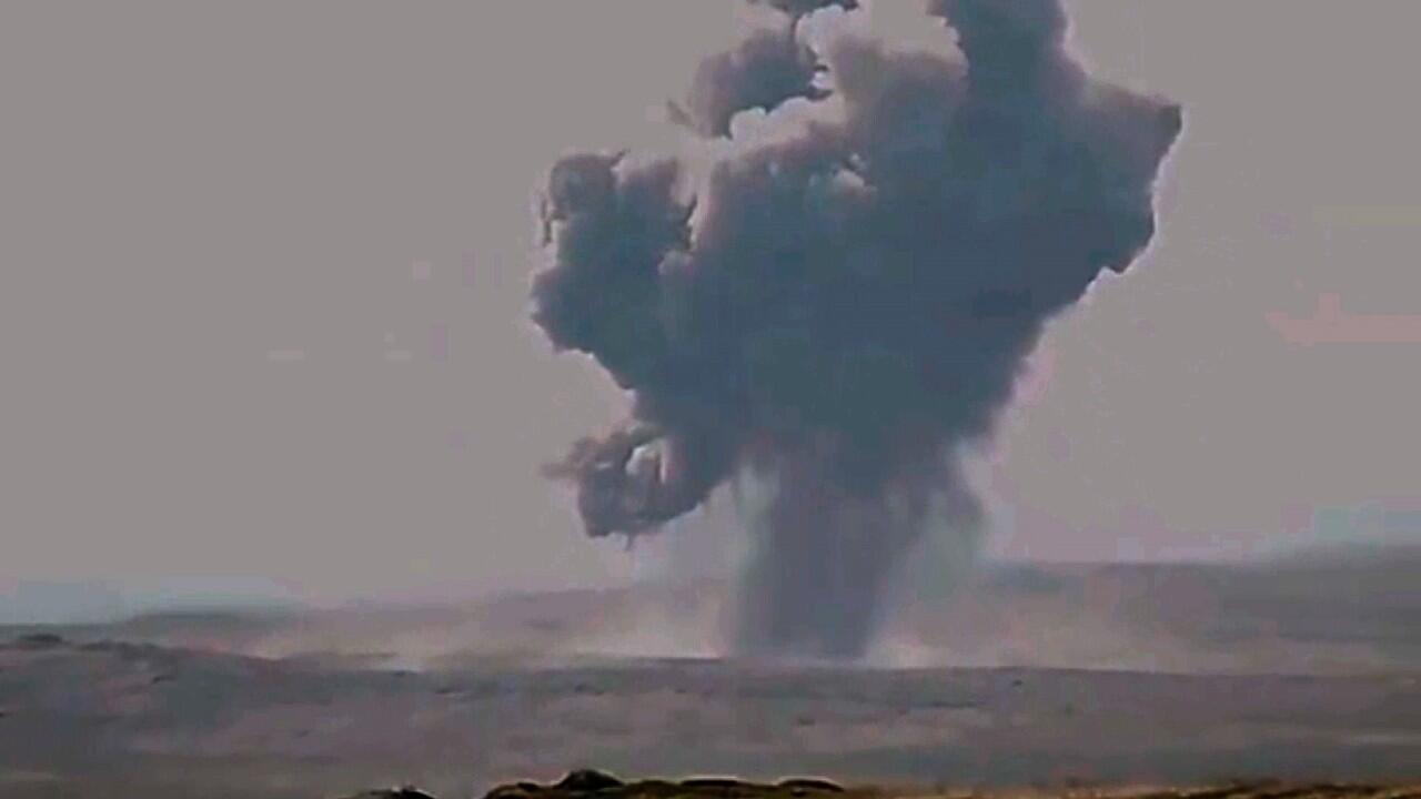 Captura de un video publicado el 3 de octubre de 2020 en la cuenta de instagram oficial del Ministerio de Defensa de Armenia que muestra la presunta destrucción de una parte de las Fuerzas Armadas de Azerbaiyán en la línea de contacto con la autoproclamada República de Nagorno-Karabaj, también conocida como Artsakh.