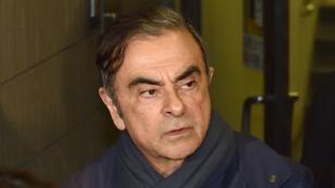 L'ancien président de Renault-Nissan, Carlos Ghosn, quitte le bureau de son avocat à Tokyo, le 3 avril 2019.