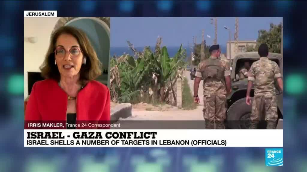 2021-05-19 17:01 Israel shells Lebanon in response to rocket fire