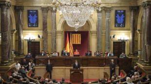 Le Parlement catalan (photo) pourrait être suspendu si le Sénat entérine l'article155 vendredi 27 octobre.