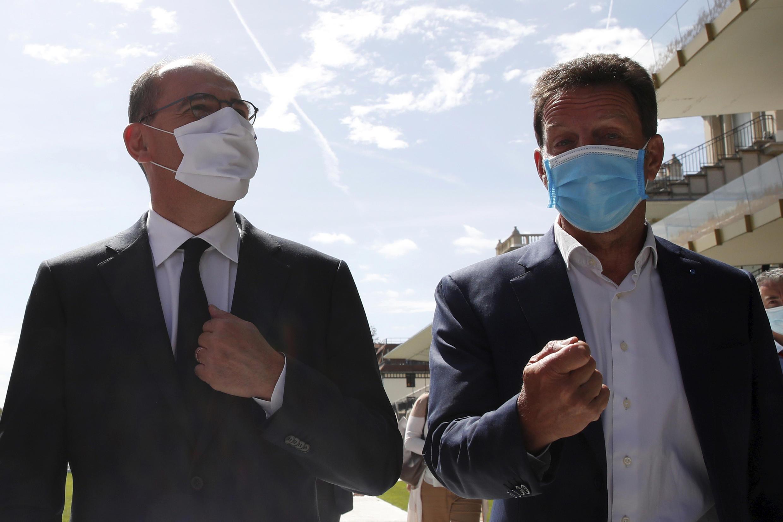 Jean Castex et Geoffroy Roux de Bezieux