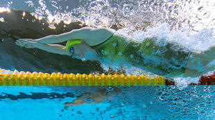 Australia's Ariarne Titmus competes in the final of the women's 200m freestyle at the Tokyo Olympics