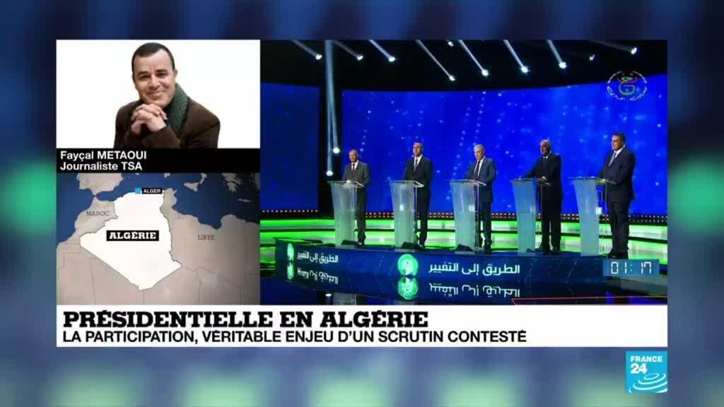 2019-12-12 07:04 Le journaliste du site d'informations TSA Fayçal Metaoui est à Alger, avant l'ouverture du vote