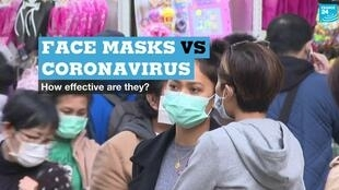 People wearing face masks in Hong Kong.